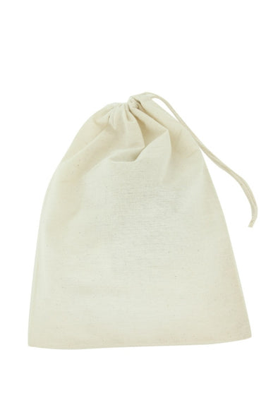 "12""Wx16""H Cotton Muslin Drawstring Reusable Bags"