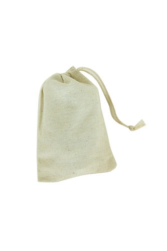 "2"" x 3"" Cotton Muslin Drawstring Reusable Bags"