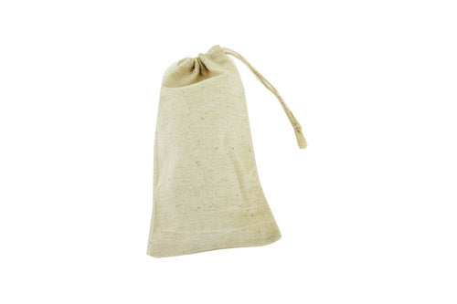 3x5 Cotton Muslin Drawstring Reusable Bags