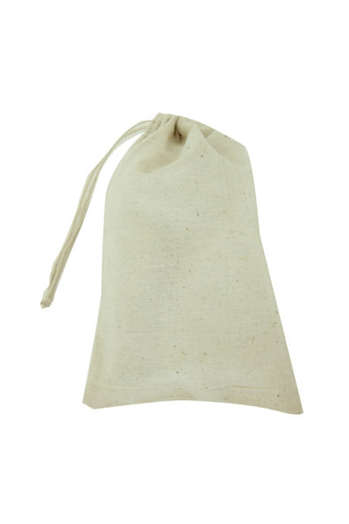 6x8 Cotton Muslin Drawstring Reusable Bags