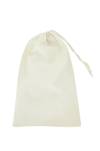 8x12 Cotton Muslin Drawstring Reusable Bags