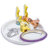 Ceramic Gold Deer Jewelry Dish