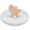 Ceramic Rose Gold Heart Jewelry Dish