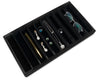 Deluxe Black Velvet 10 Column Compartment Jewelry Display Tray