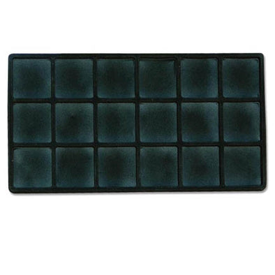 3x6 Black Compartments Tray Insert