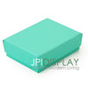 "2 1/8""Wx 1 5/8""Dx 3/4""H Teal Green Cotton Filled Paper Box"