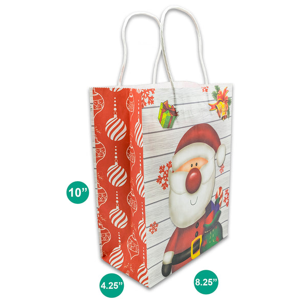 Kraft Paper Christmas Santa Claus Shopping Gift Bags