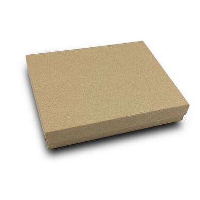 "6 1/8"" x 5 1/8"" Kraft Paper Cotton Filled Box"