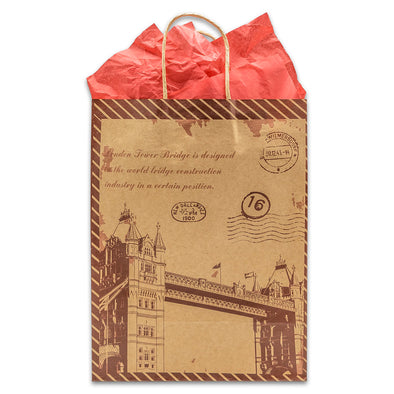 Kraft Paper London Bridge Shopping Merchandise Gift Bags