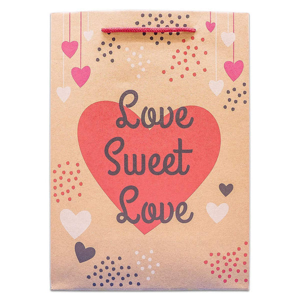 Love Sweet Love Kraft Paper Shopping Gift Bags