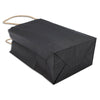 Matte Black Kraft Paper Shopping Gift Bags