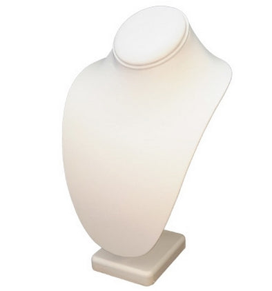 "9 5/8""h Deluxe White Leatherette Necklace Stand"
