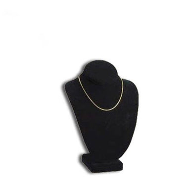 "6 3/4""H Deluxe Black Velvet Necklace Bust Display"