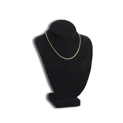 "9 5/8""h Deluxe Black Velvet Necklace Stand"