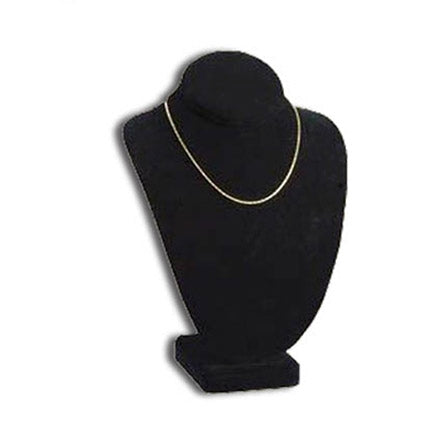 "11""H Black Velvet Necklace Bust Display"