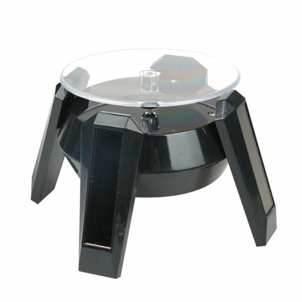 Solar Powered 360 Degree Rotating Turn Table Jewelry Display