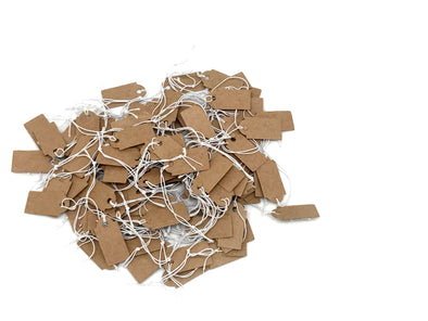 100PCS 13x26 Kraft Paper Knotted String Price Tag