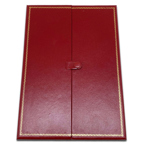 "8 1/8"" x 5 5/8"" Two Door Red Deluxe Leatherette Necklace Jewelry Display Box"