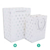 White and Silver Polka Dot Gift Bags