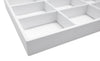 White Leatherette 15 Compartment Stackable Jewelry Tray