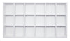 White Leatherette 18 Compartment Stackable Jewelry Tray