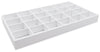 White Leatherette 24 Compartment Stackable Jewelry Tray