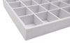 White Linen 32 Compartment Stackable Jewelry Tray
