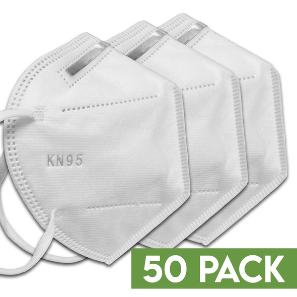 Wholesale 50 Pack of Individually Packaged KN95 Disposable 5-Layer Respirator Mask