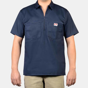 Short Sleeve Solid, 1/2 Zip – Navy Ben Davis - Chicano Spot