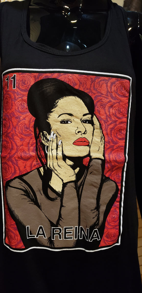 Selena Card Tank Tops - Chicano Spot