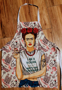Frida I am a women Superpower Apron - Chicano Spot