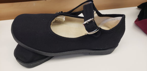 Kids - Mary Janes Shoes all black - Chicano Spot