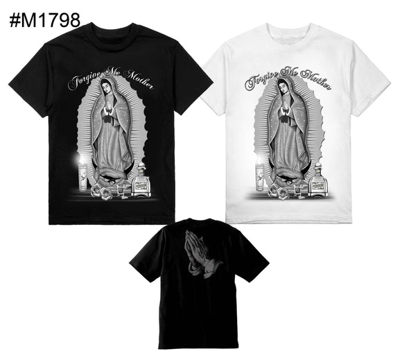 Forgive me Mother Virjen De Guadalupe on Shaka Tall Tee Black Only