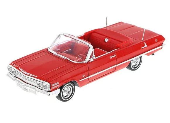 1963 Red Impala Convertible  Lowrider 1/24 Model