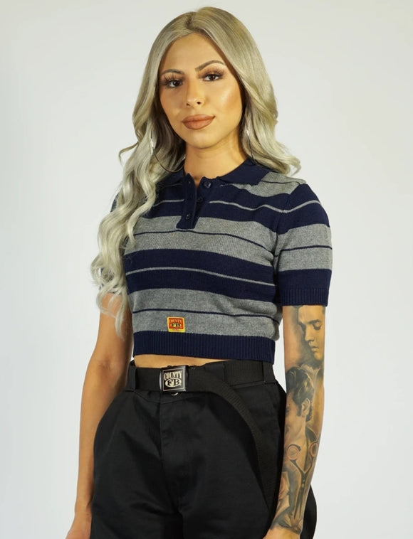 Womens Charlie Brown  Crop Tops Blue & Gray