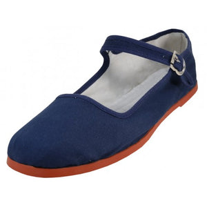 Mary Jane Shoes - Navy Blue - Chicano Spot
