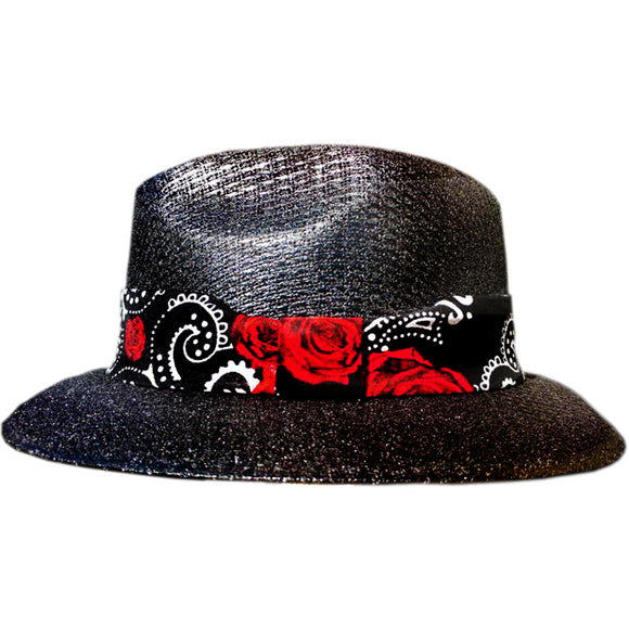 Black Pachuco Rockabilly Brim - Chicano Spot