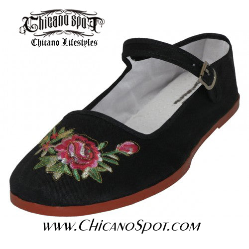 Mary Jane Shoes w/embroidery - Chicano Spot