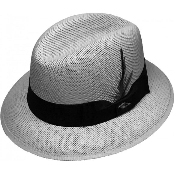 Gray Whittier Pachuco Panama Style Hat WP22 - Chicano Spot