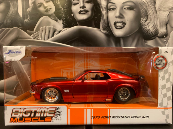 1970 Ford Mustang  Boss 429 Red Die Cast 1/24 Scale