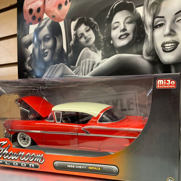 Die cast 1958 Chevy Impala Red