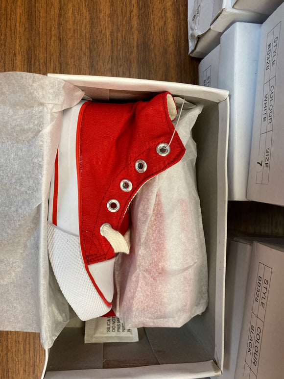 Toddler Shoes (Red size 7) - Chicano Spot