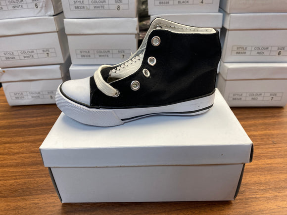 Toddler Shoes (Black size 4) - Chicano Spot