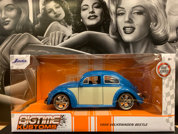 1959 Volkswagen beetle blue Die Cast 1/24 Scale