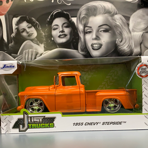Die cast 1955 Chevy Stepside Orange