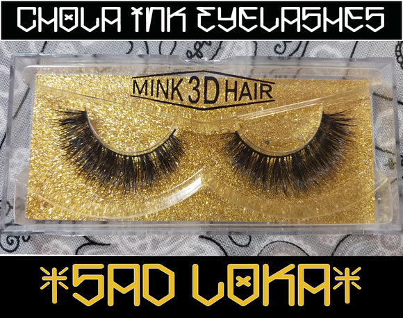 Sad Loka- Eyelashes 100% MInk - Chicano Spot