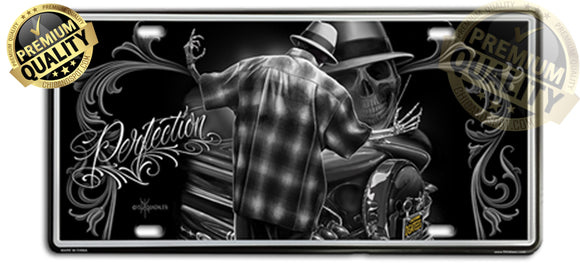 DGA - Perfection License Plate Lowrider - Chicano Spot