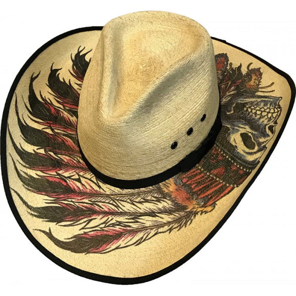 Sahuayo Cattleman Native American Straw hat - Chicano Spot