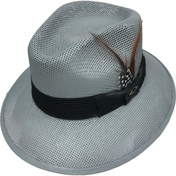 Gray Viejo Style  Pachuco Panama Style Lowrider Hat - Chicano Spot