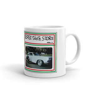 Eastside Story Mug Vol. 6 Coffee Mug 11oz. on white mug - Chicano Spot